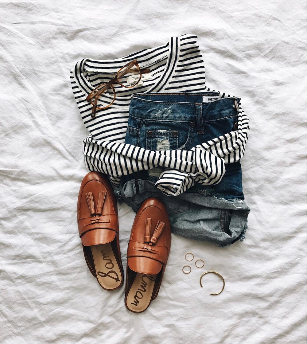 livvyland-blog-olivia-watson-instagram-roundup-livvylandblog-cozy-chic-boho-outfit-idea-loafer-slides-one-teaspoon-bandit-shorts-striped-top.jpg