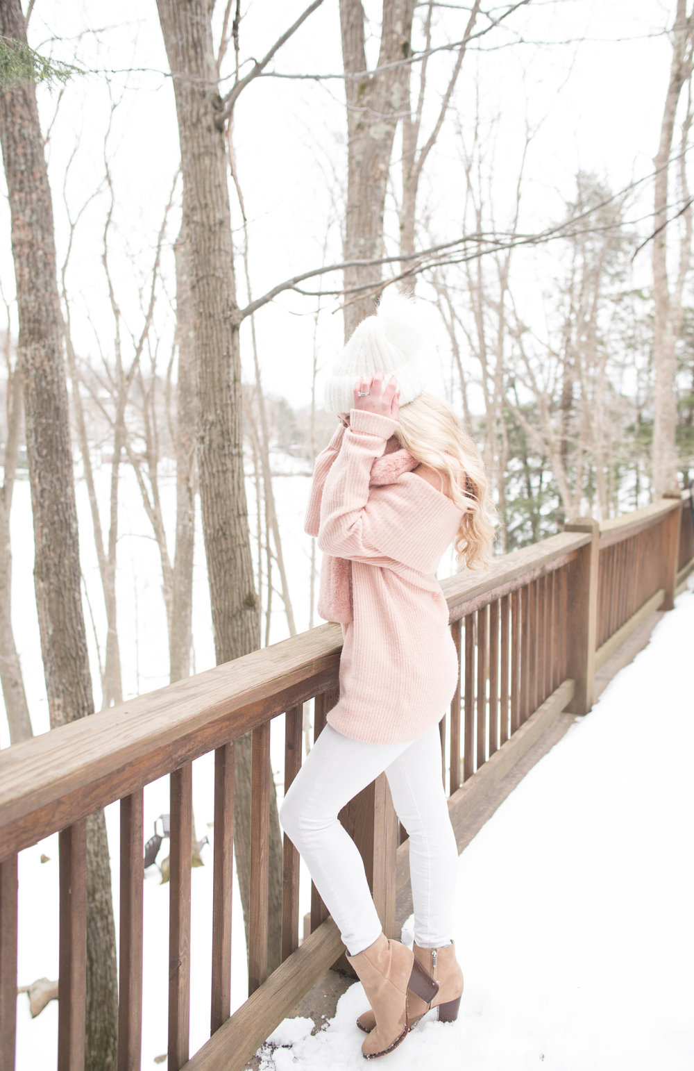pink winter style