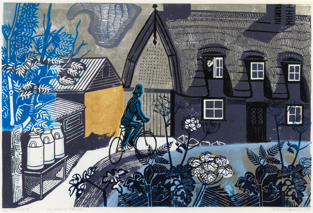 Edward Bawden 'The Road to Thaxted'