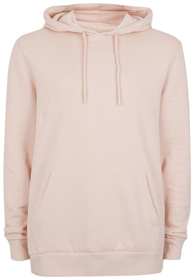 Light Pink Classic Fit Hoodie from Topman