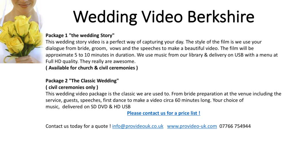 wedding video Berkshire