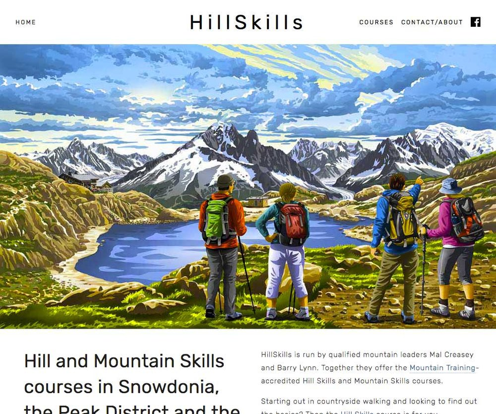 Hill Skills - I built a shiny new website for this hillwalking skills course provider, to replace their previous site which looked dated, wasn't optimised for search and had multiple broken links. I also helped them set up a new online booking system.