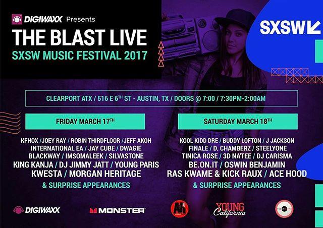 Texas, see you soon! #SXSW17 #TheBlastLive
