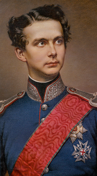 A formal portrait of Ludwig II