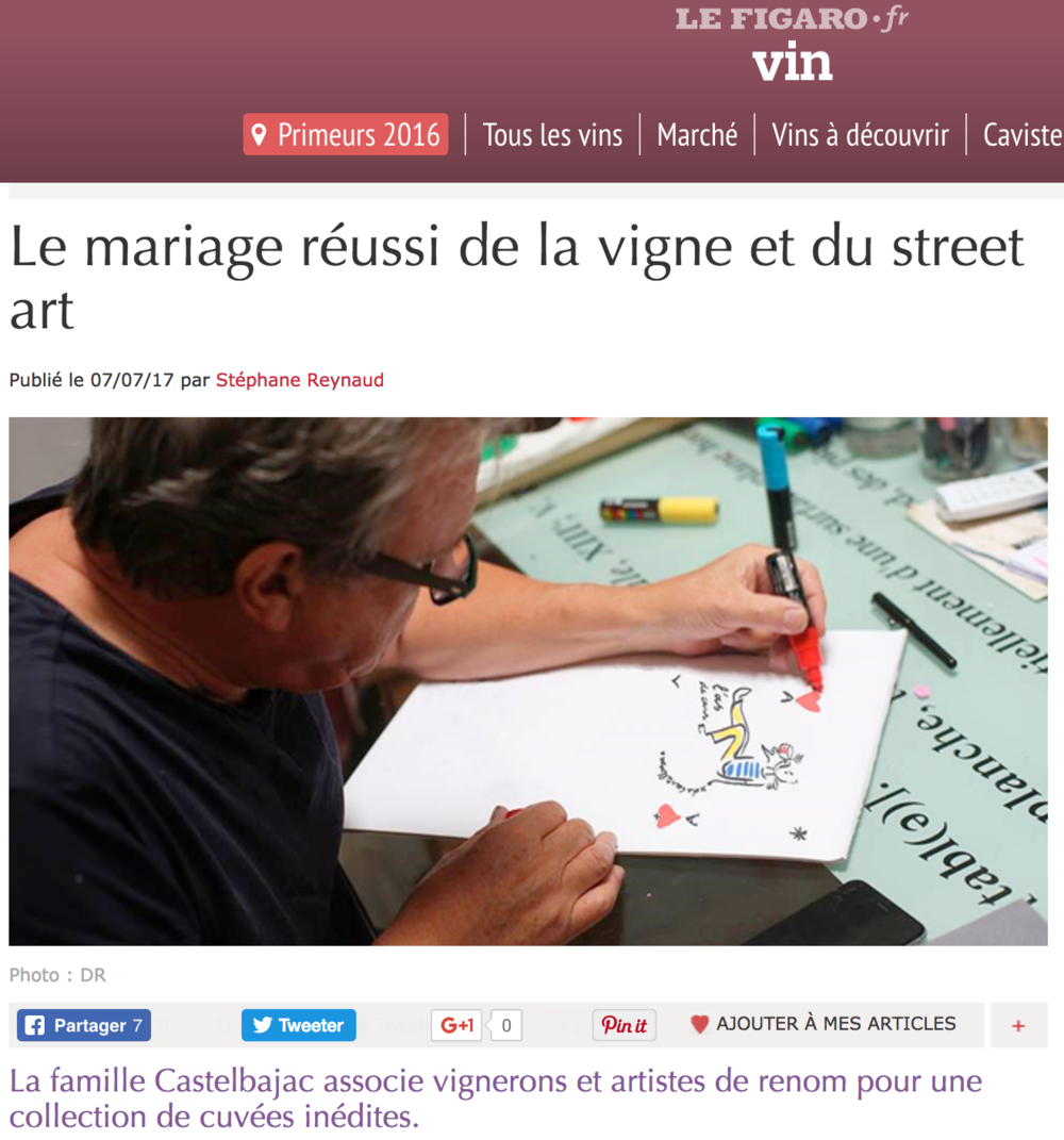 FIGARO.FR - L'ÉCONOMIE DU VIN 07 July 2017
