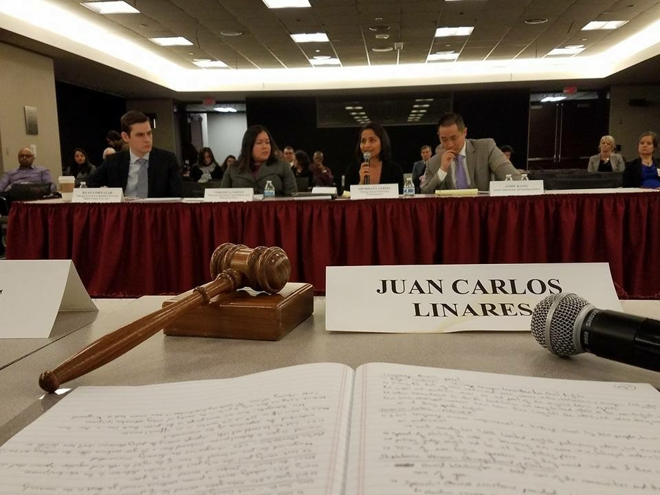 Ryan Cortazar testifies about voter access and voting barriers on a panel before the U.S. Commission on Civil Rights.