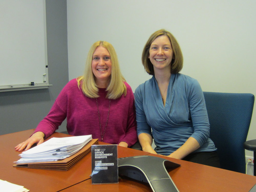Marjorie Zessar, left, and Katie Donnelly, right, of GGP, Inc.