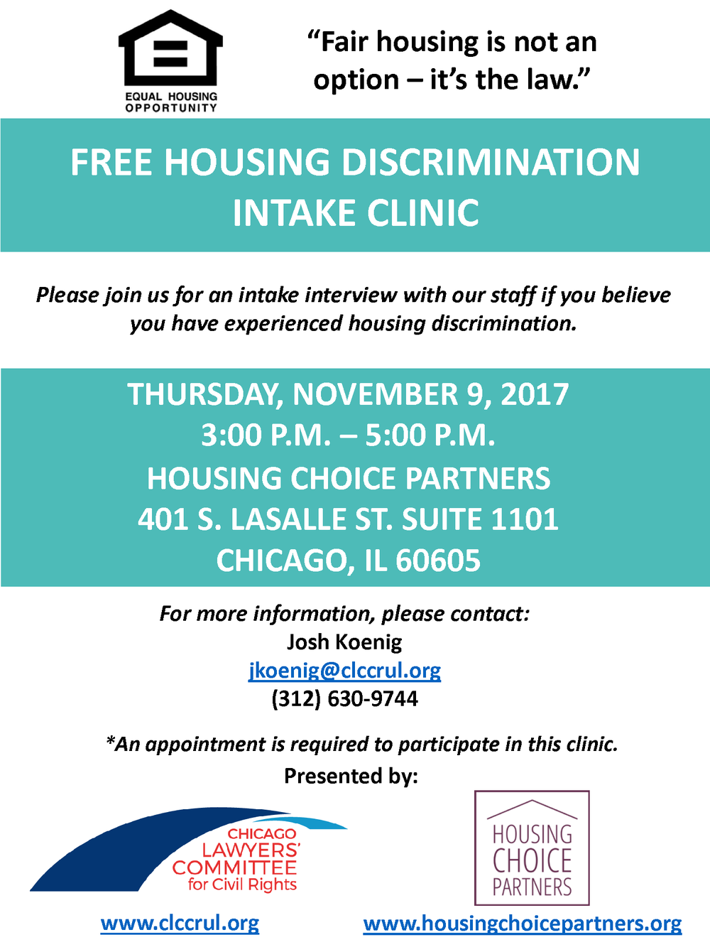 Housing Discrimination Clinic Flyer 11.3.2017.png