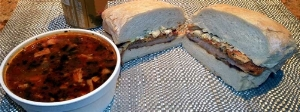 deli soup and sandwich