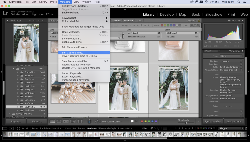Step 3 in how to sync photos in lightroom. Click to enlarge
