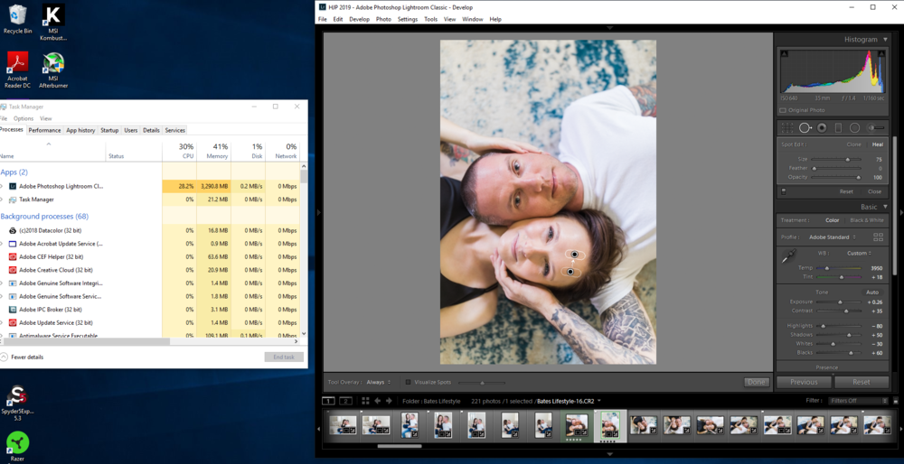 New build while doing brushwork in Lightroom! So much better!