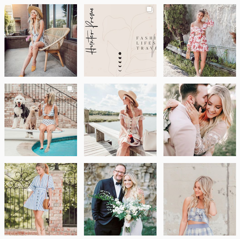 INSTAGRAM LAYOUT MOOD BOARD - Inspire your followers with an instagram mood board that holds your brand elements, color palette and photography style all one place.