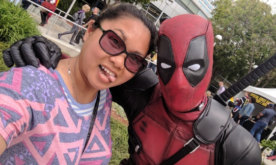 I had the pleasure of meeting SpideyFit, not as Spiderman, but as Deadpool at Silicon Valley Comic Con! April 22, 2017 - Christine Corpuz