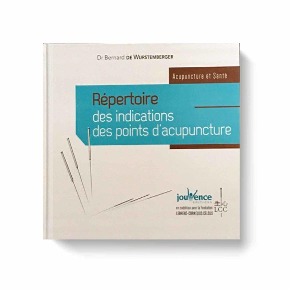 Répertoire des indications des points d'acupuncture