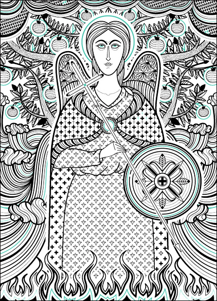 st. michael /card for St Michael's day