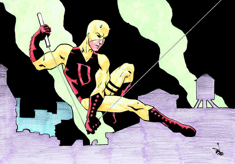 Daredevil - art by David Wynne