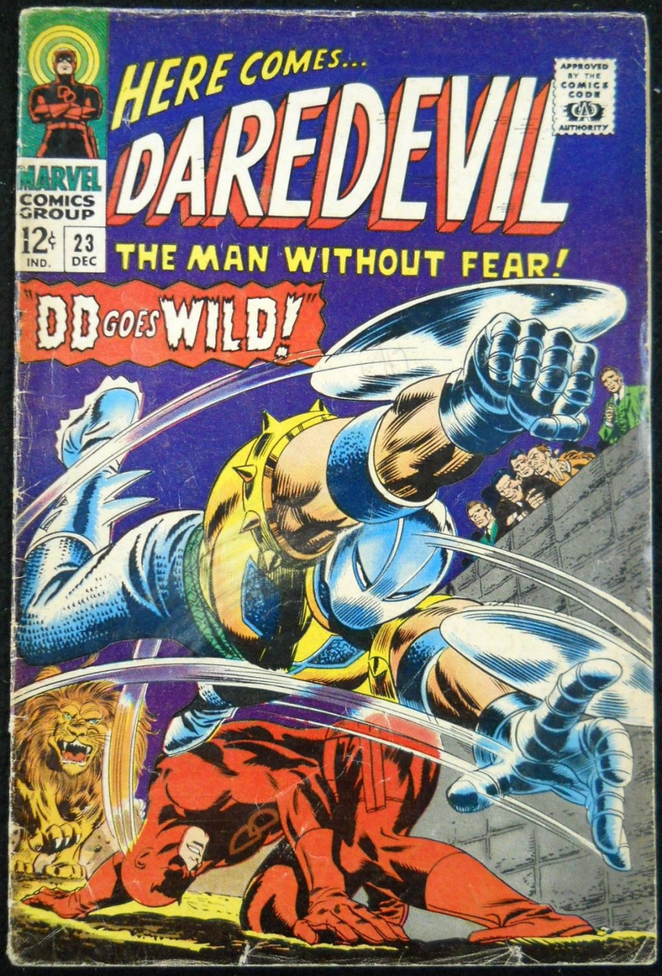 Daredevil 23 - cover art by Gene Colan