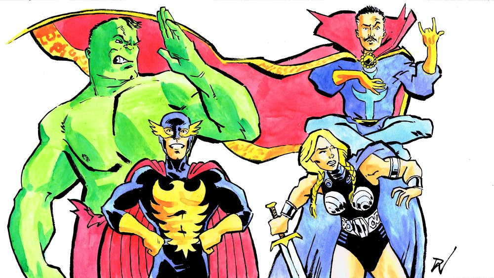 Defenders! Art by David Wynne