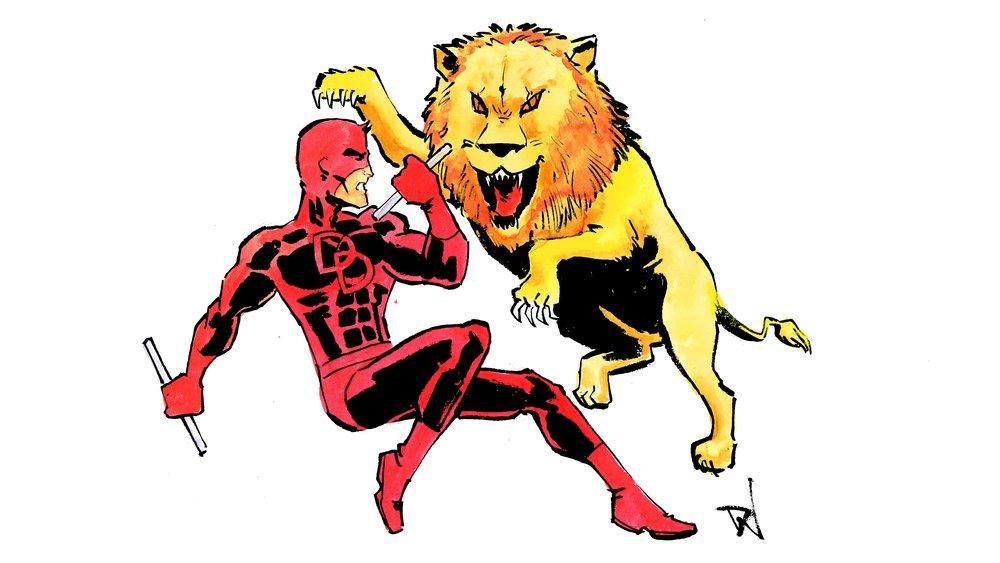 When the lion awakens! Art by David Wynne