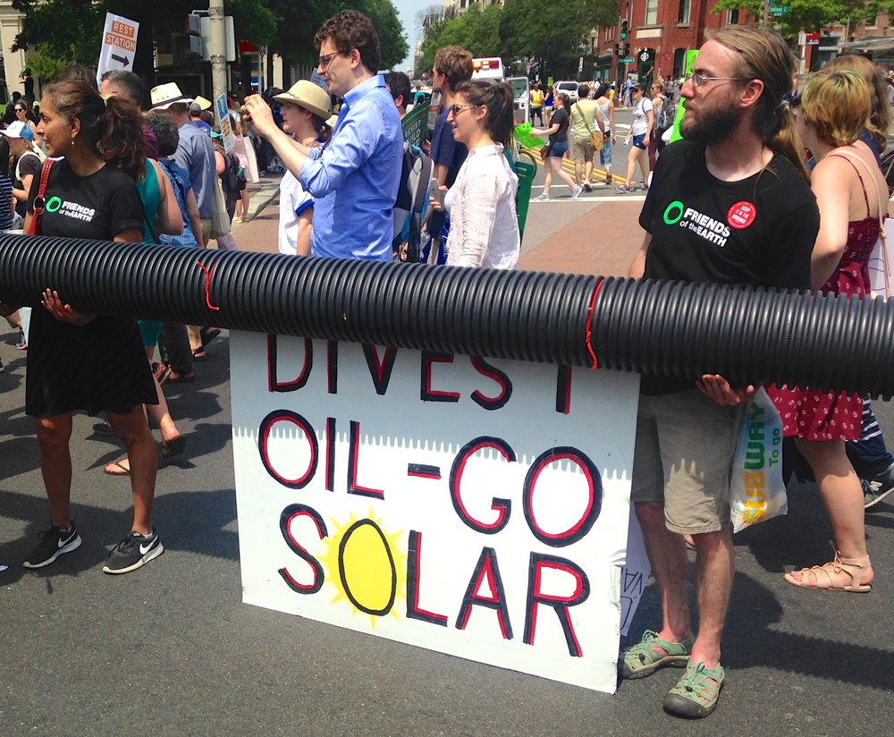 This mock pipeline was at least twenty feet long.