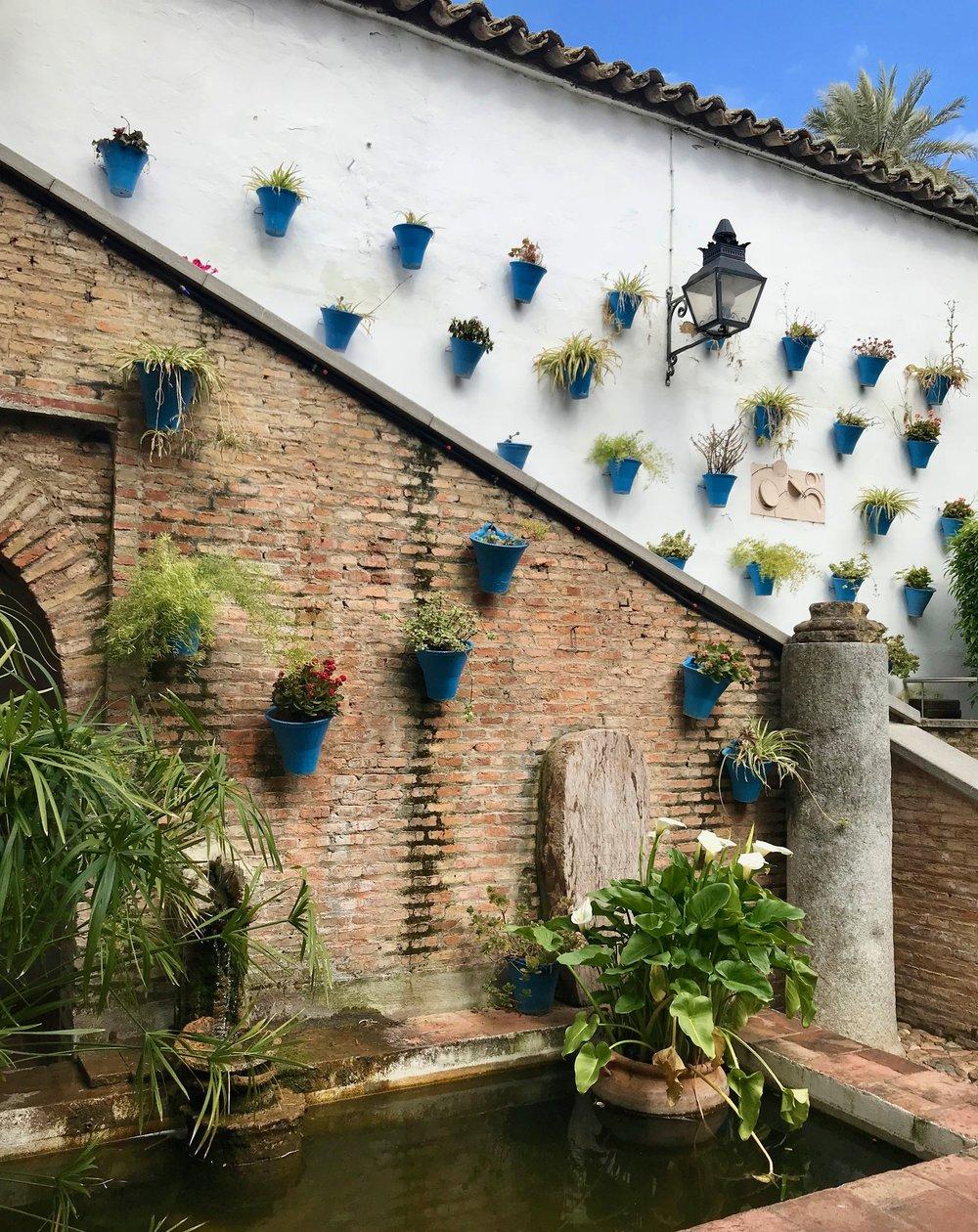 Patio inside el Zoco, an artisanal marketplace