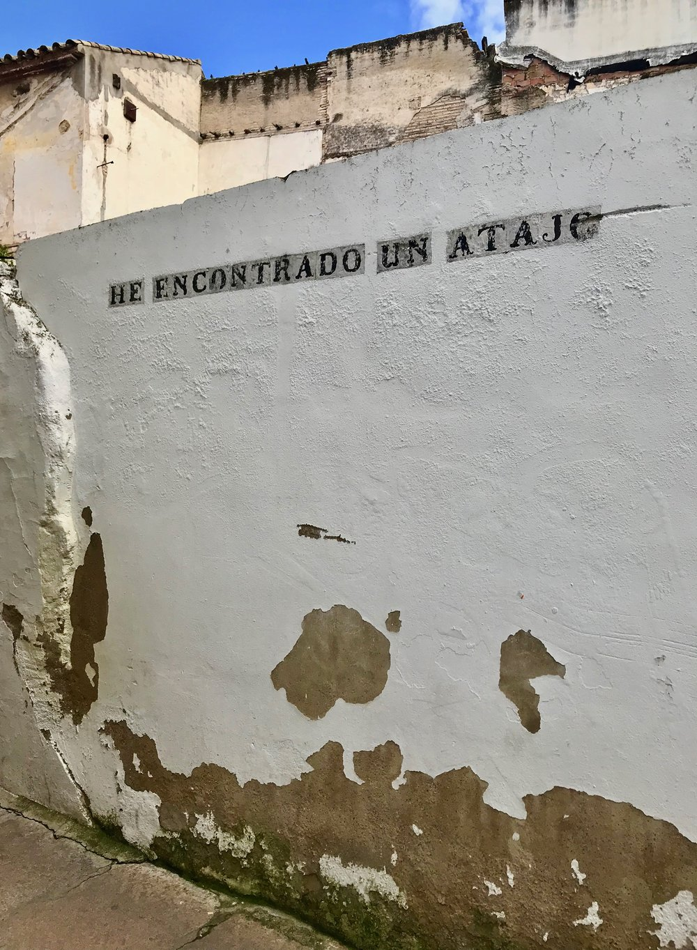 Part of the  Callejero Pirata , a collection of street art that imitates Córdoba's iconic street signs. Most of the installations, which were created in 2010, are gone now - but I still managed to find a few.