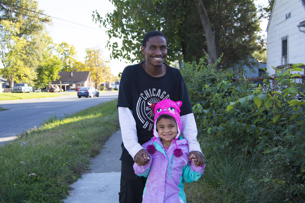 """One of my proudest moments of being a dad is seeing her go to school."" - Mike & Nevaeh, Parkland"
