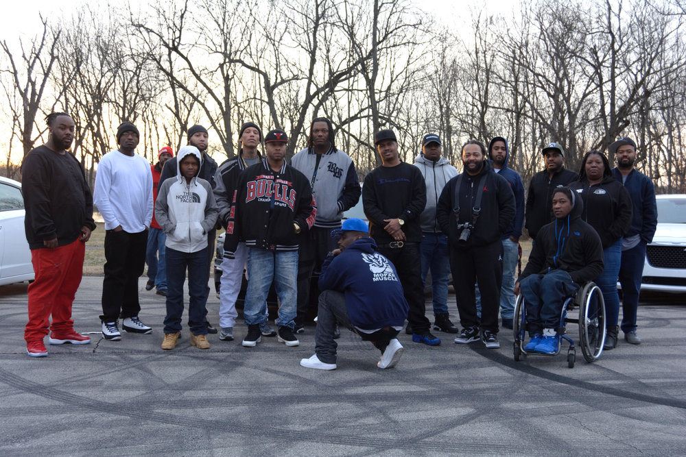 """""""We want to do something positive in the community. We want to get the brothers together, congregate together, be positive and put together a hell of a unit, and stunt at the same time. Ya dig? We're trying to rep the city how you're supposed to. We got people from all over the city that are black, white, the whole nine, man. It's the Louisville Mopar Muscle. It's the Muscle."""" - Mopar Muscle, Shawnee"""