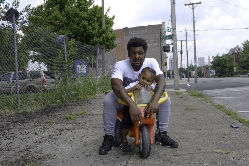 """""""I made me a video on Facebook, giving a shoutout to deadbeat fathers. I don't like the fact that these fathers are out here, not trying to take care of their kids. We also got the mothers out here, not taking care of their kids, too. That's basically what I'm going through, now. I'm fed up with it. I'm only 21 and my son's 4. He came when I was 17years old, 6 days after my 17th birthday. Me, being a parent and not knowing my real father, I just don't like parents that don't do anything for their kids. I don't even talk to people who don't take care of their kids.  I'm just looking forward to Lil Pierre just being here and me actually being able to do for him. I don't have nobody else but him, so why not do what I can to take care of him, so his life can be better than mine. That's just where my mind is."""" - Pierre and Lil Pierre, Portland"""