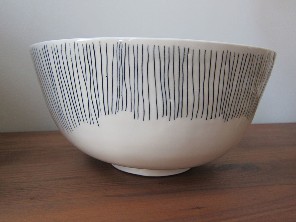 Vertical Lined Bowl