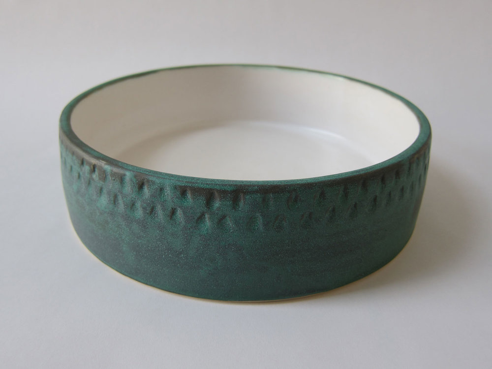 Bronze Green Dish