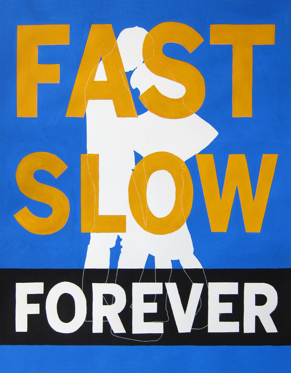Kelly Sherman   FAST SLOW FOREVER , 2012  Gouache and pencil on paper  16 x 20 inches