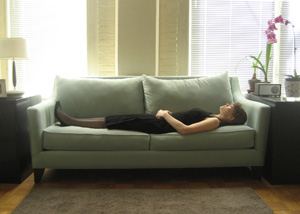 Kelly Sherman   Margaret Sofa in Oasis , 2009 Inkjet print 16 x 24 inches Edition of 5
