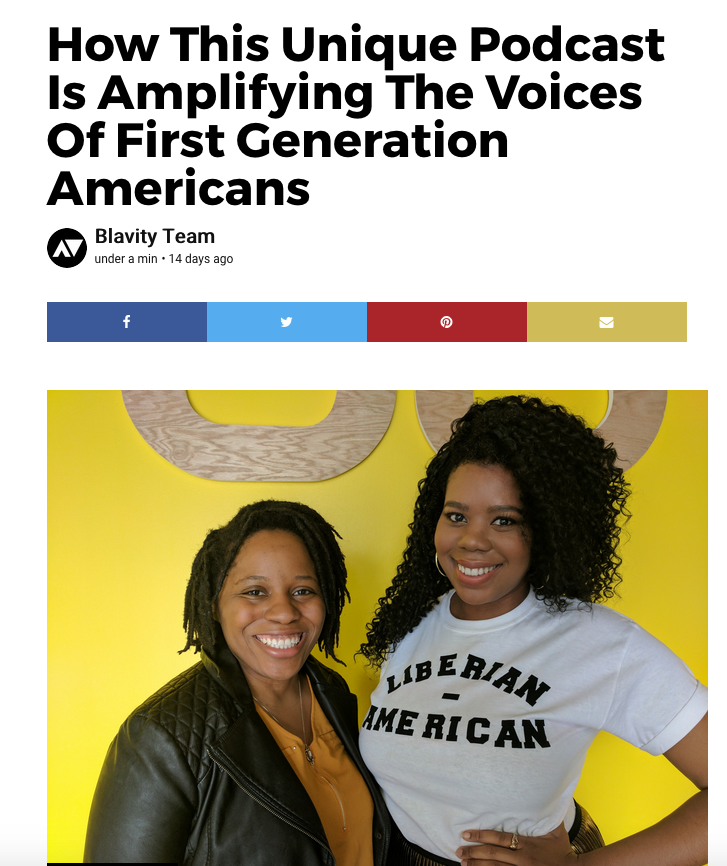 Read the full Blavity article here:  https://blavity.com/1st-gens-podcast