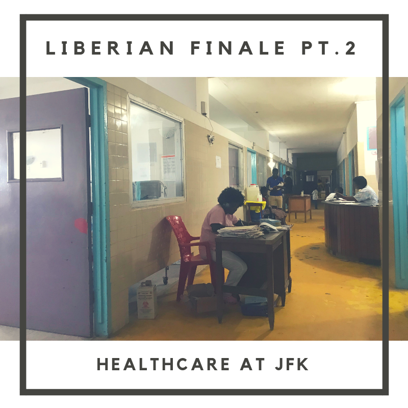 In Part Two of our Liberian Season Finale, hear from Christlyn, a Pediatric Resident at the John F. Kennedy hospital in Monrovia. Christlyn shares with Skye and Perrine the hospitals many needs and the state of healthcare in the country.  Full musical composition by Nick Stubblefield:  www.nickstubblefield.com