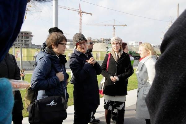 Návšteva Aspernu, nového viedenského developmentu postaveného na princípoch rodovo citlivého plánovania, Viedeň