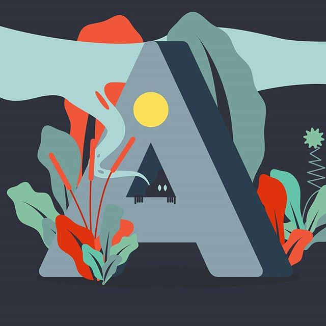 362/365 - I really like this organic style with a spooky twist!  _ _ #illustration  #illustrator  #vector  #design  #shapes  #dailydesign #create #drawing  #graphicart  #graphicdesign  #2d  #flatdesign  #art  #vectorillustration  #icondesign  #geometric  #letter #nature #spooky