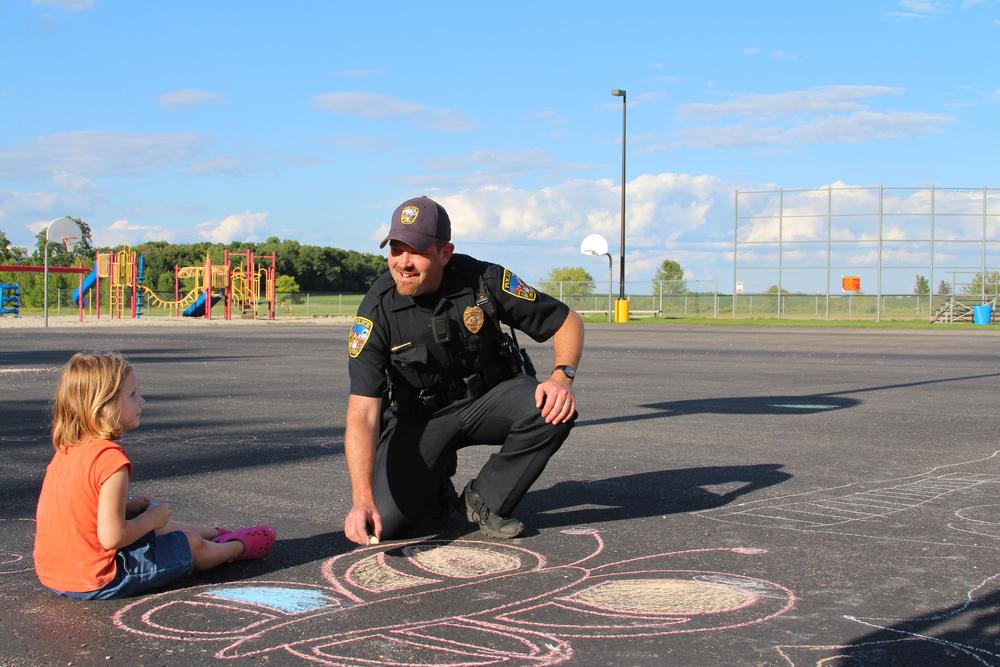 police plus chalk