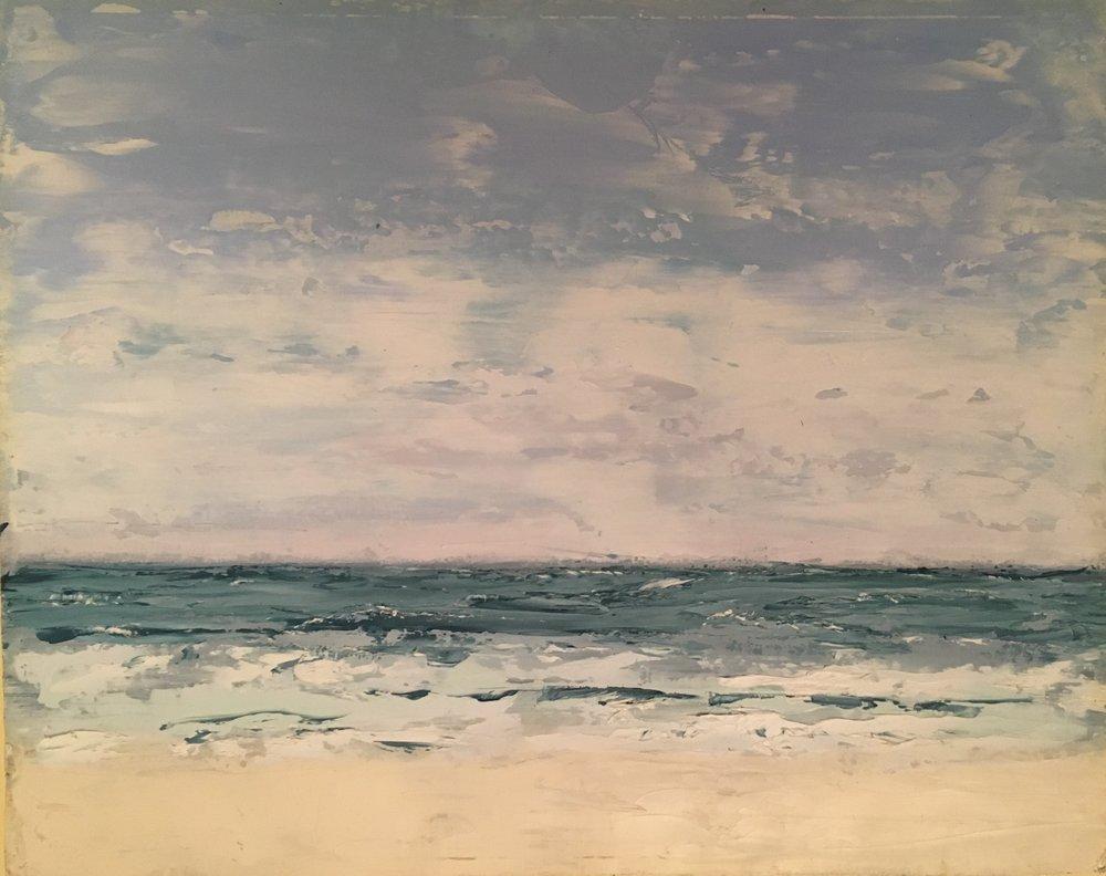 Seascape 2; oil on canvas; 10 x 8