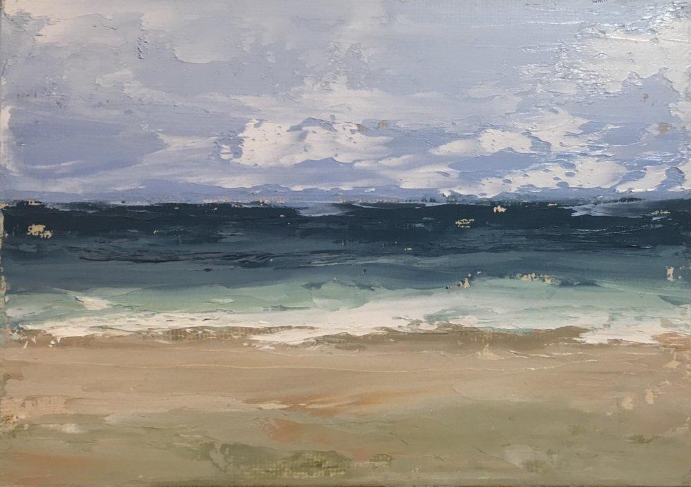 Seascape 4; oil on canvas; 5 x 7