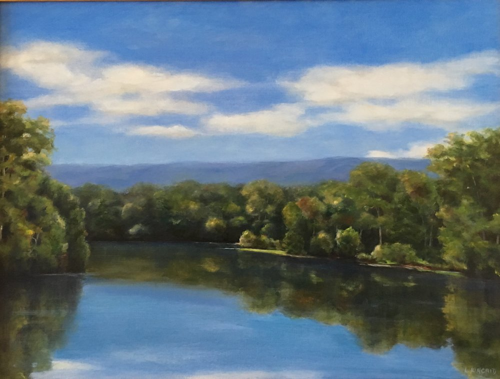 Shenandoah Down River; oil on canvas; 18 x 24; $950