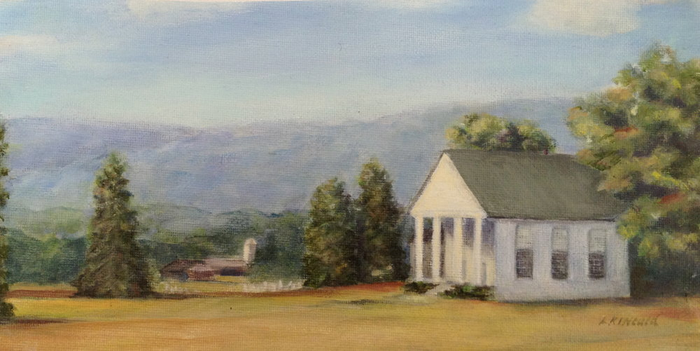 Ebenezer Church 2; oil on canvas;   SOLD