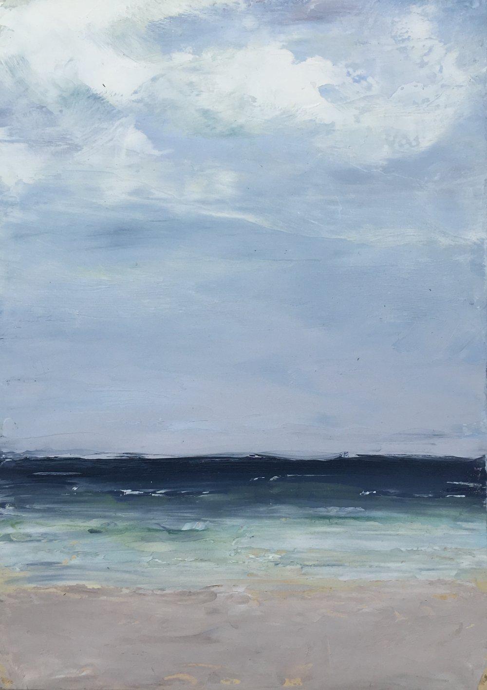 Seascape 8; oil on canvas; 5 x 7