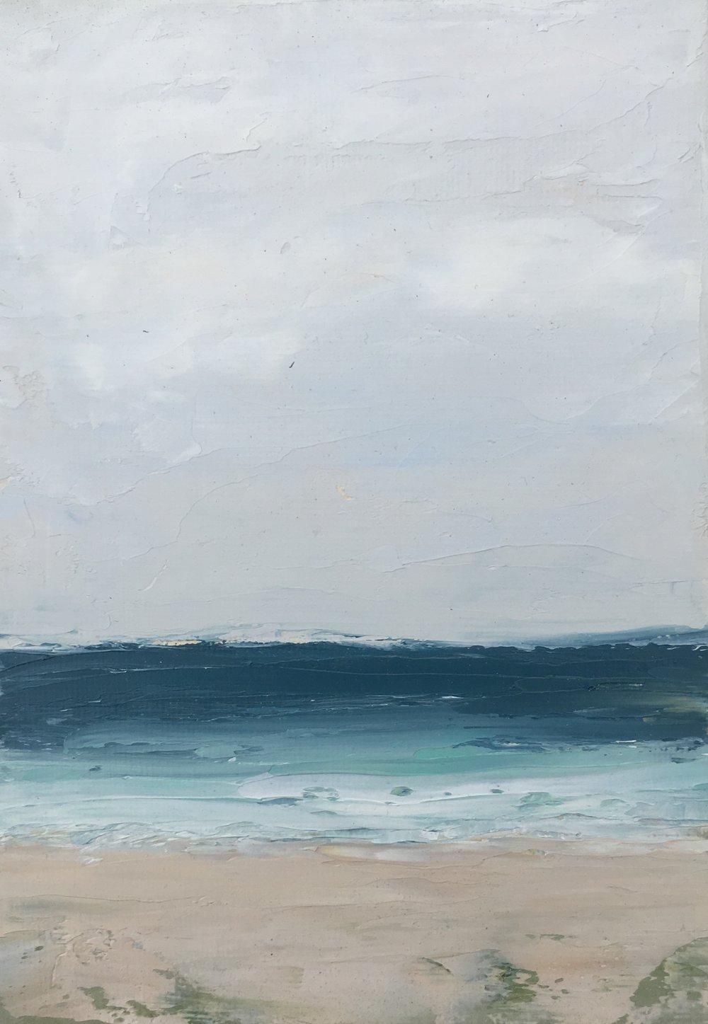 Seascape 9; oil on canvas; 5 x 7