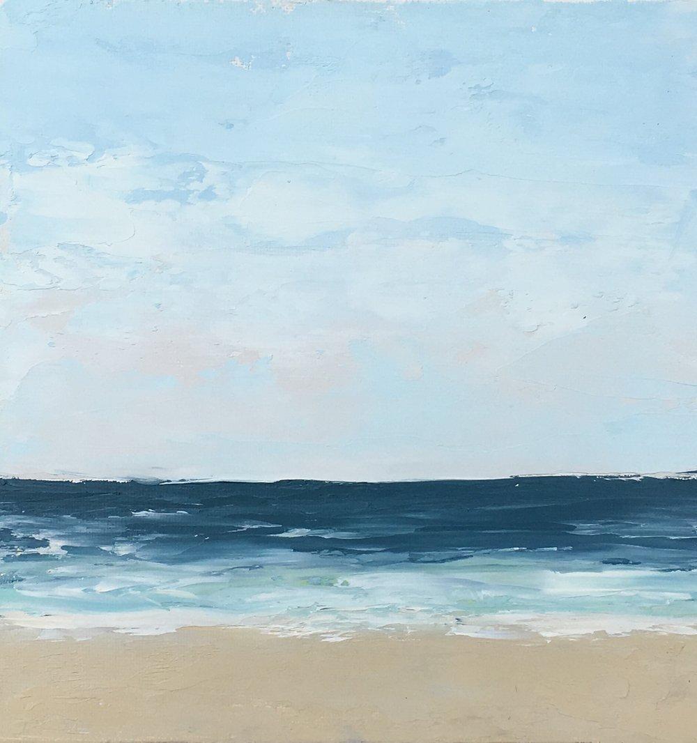 Seascape 10; oil on canvas; 5 x 7