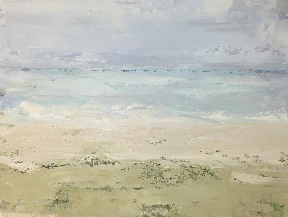 Seascape 1; oil on canvas; 9.5 x 12.5