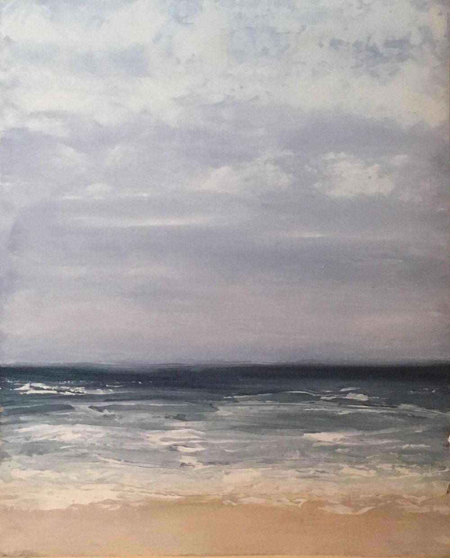 Seascape 3; oil on canvas; 10 x 8