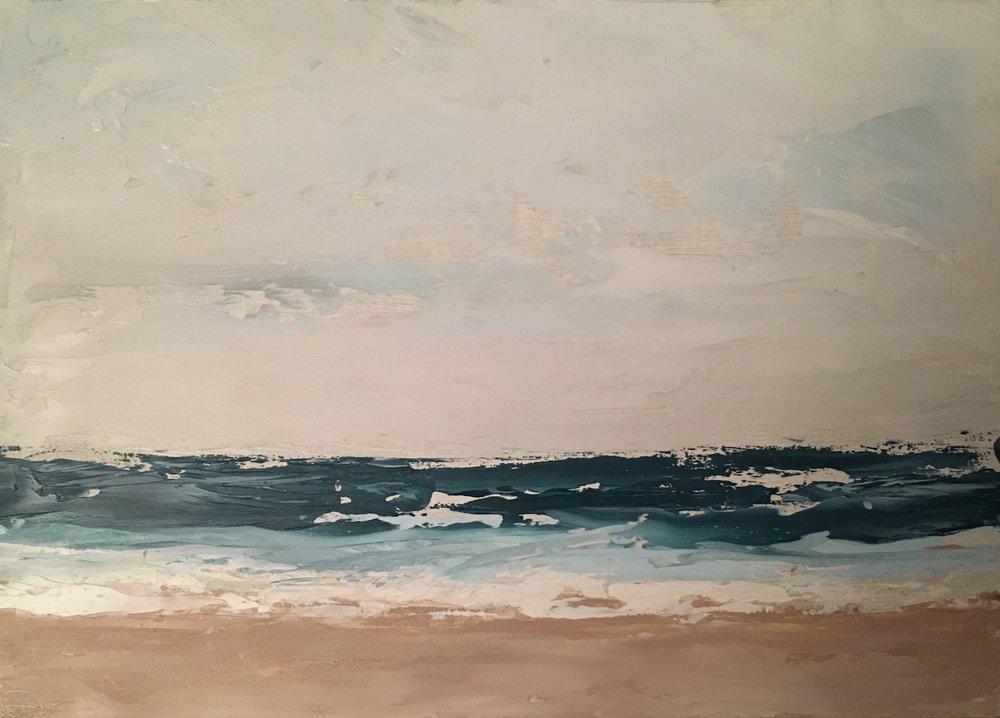 Seascape 5; oil on canvas; 5 x 7