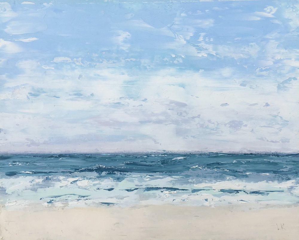 Seascape 6; oil on canvas; 5 x 7