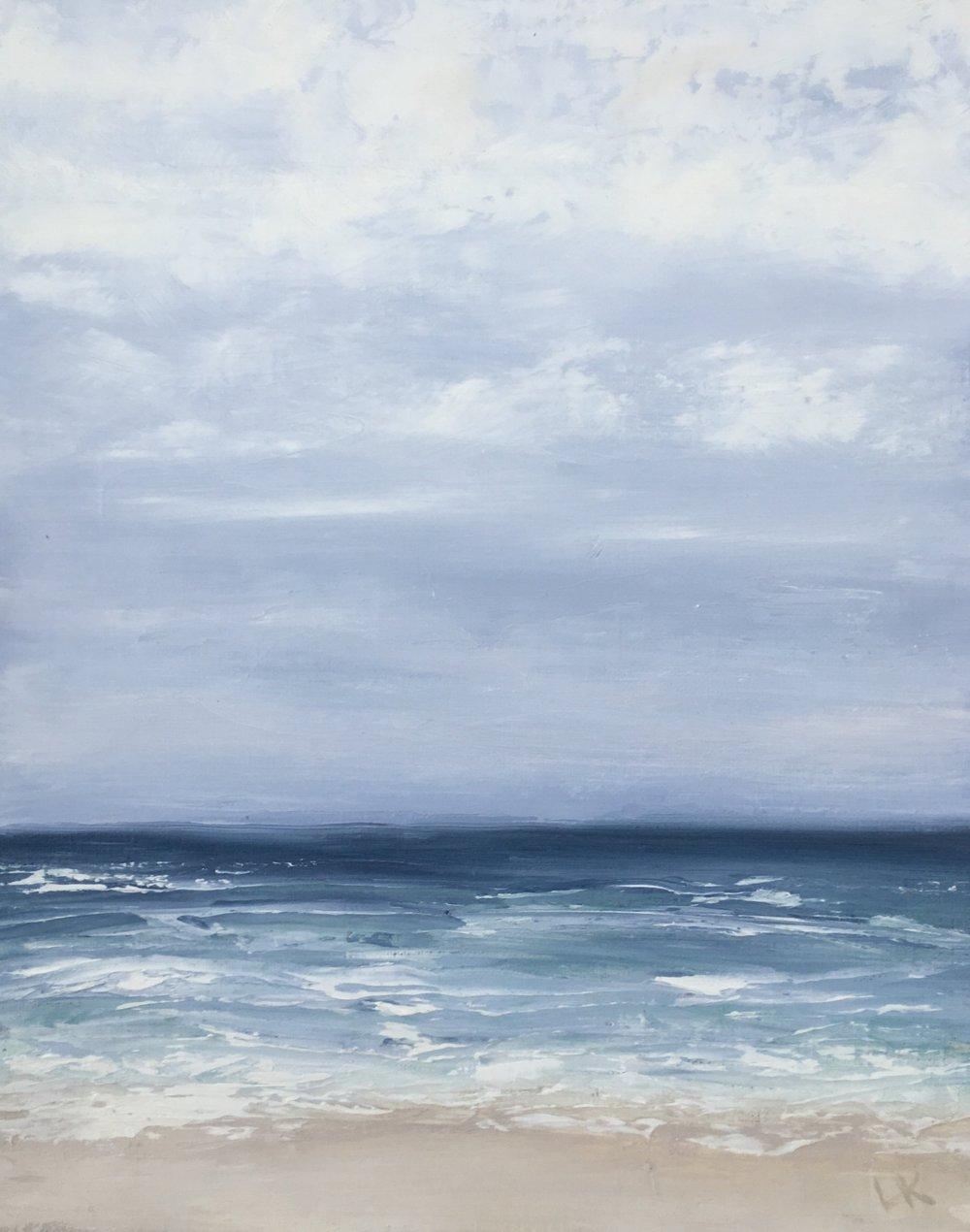 Seascape 7; oil on canvas; 12 x 6